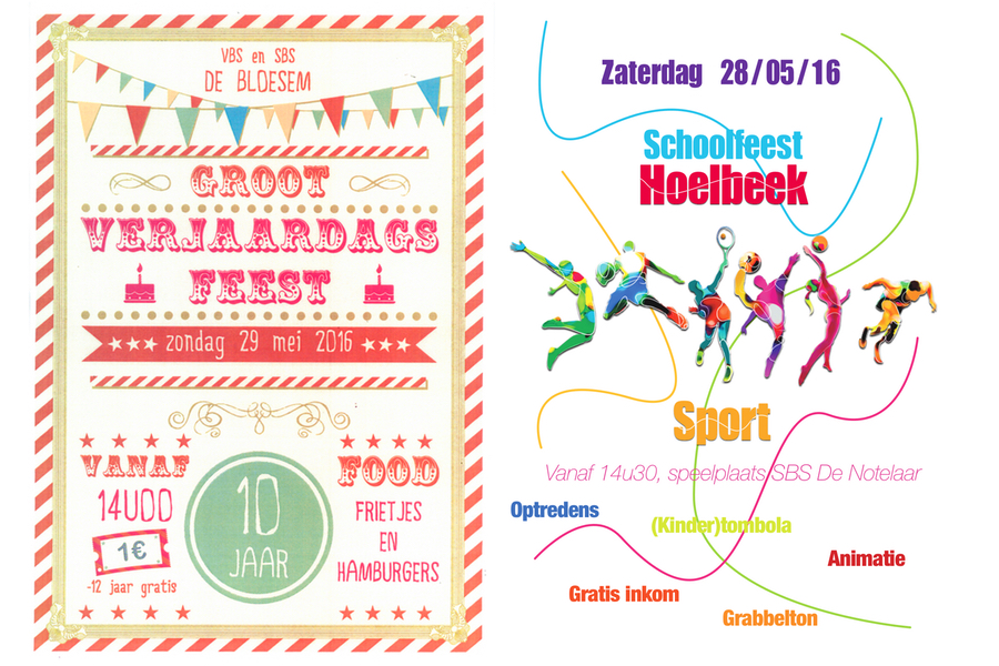 Schoolfeest in Munsterbilzen en Hoelbeek