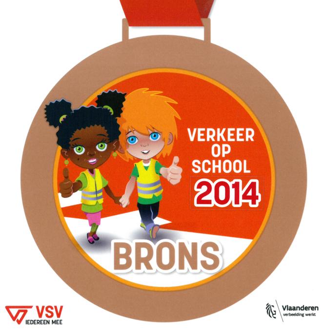 Verkeer op school: bronzen medaille